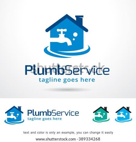 Plumb Water Logo Template Design Vector