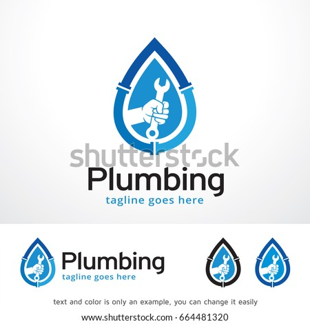 Plumbing Logo Template Design Vector, Emblem, Design Concept, Creative Symbol, Icon