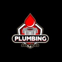 Plumbing service logo template vector.