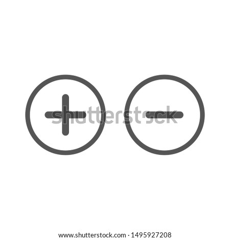 Plus and minus signs. EPS 10 Stock photo ©