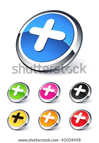 stock vector   plus icon