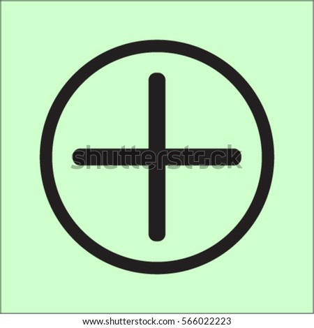 Plus icon, positive symbol vector illustration #566022223