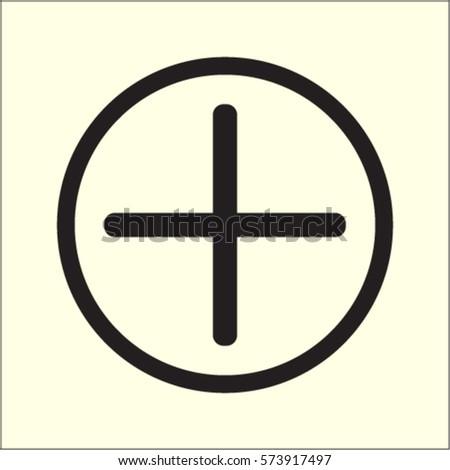 Plus icon, positive symbol vector illustration #573917497