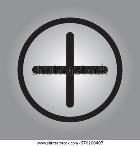 Plus icon, positive symbol vector illustration #576260407