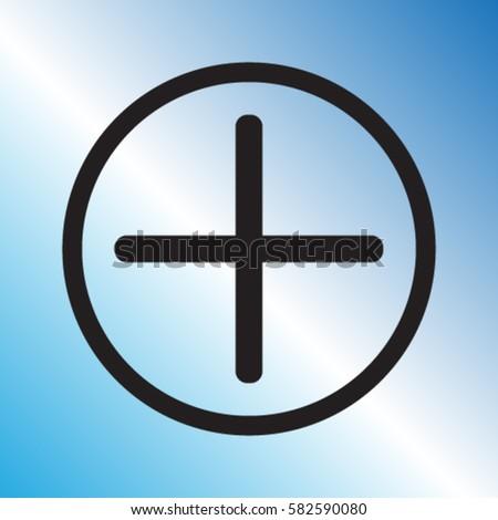 Plus icon, positive symbol vector illustration #582590080