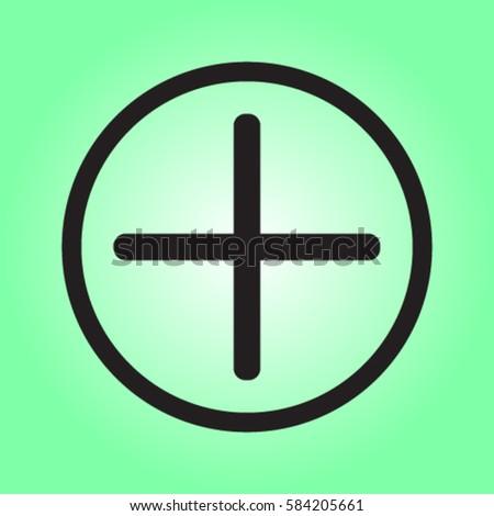 Plus icon, positive symbol vector illustration #584205661