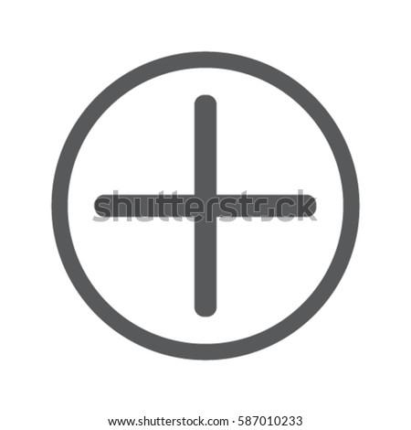 Plus icon, positive symbol vector illustration #587010233