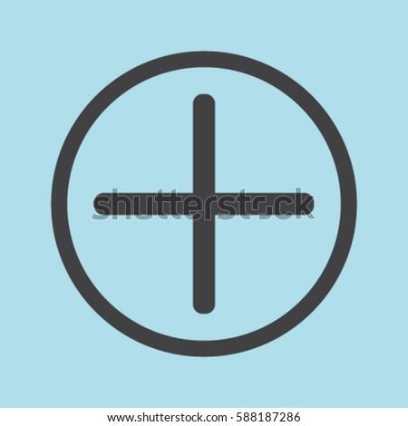 Plus icon, positive symbol vector illustration #588187286