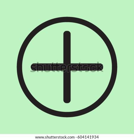 Plus icon, positive symbol vector illustration #604141934