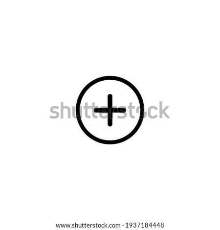 Plus icon simple vector perfect illustration Photo stock ©