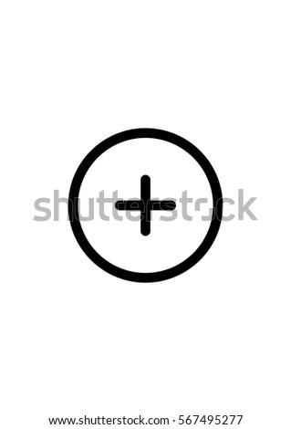 Plus icon, Vector