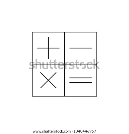 plus minus division multiplication icon. Element of banking icon for mobile concept and web apps. Thin line  icon for website design and development, app development. Premium icon on white background