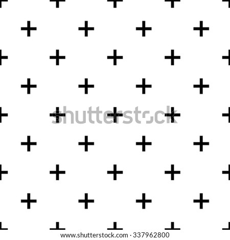 plus seamless pattern for web