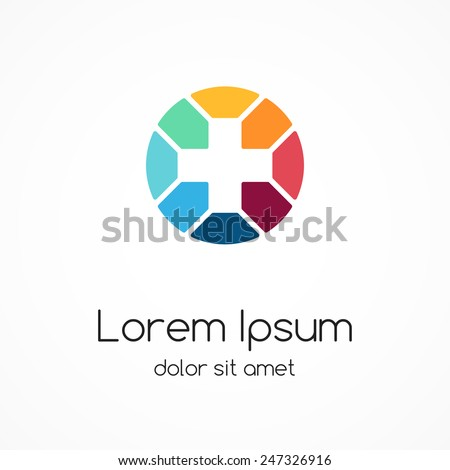 Plus sign logo template. Medical healthcare hospital symbol. Abstract concept of hospital or medicine doctor.