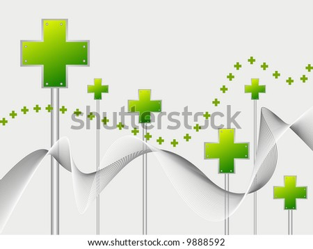 plus sign vector illustration abstract background