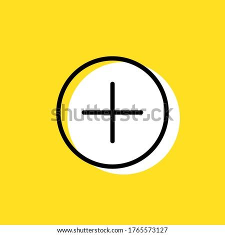 Plus simple vector icon illustration