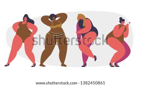 plus size girls on white