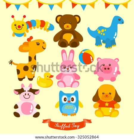 plush toy vector design