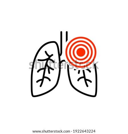 Pneumonia respiratory inflamed icon vector asthma pulmonology logo Stockfoto ©