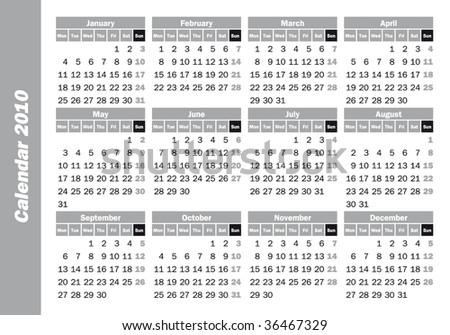 Pocket Calendar 2010