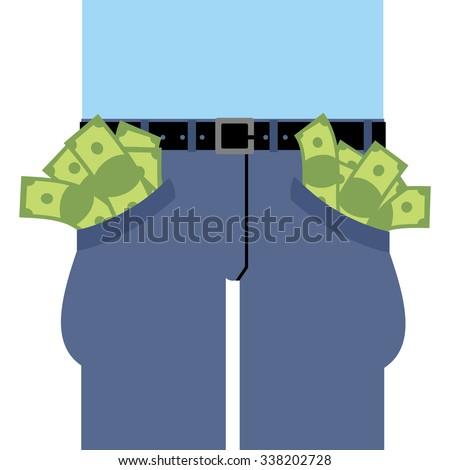 pockets many money jeans full