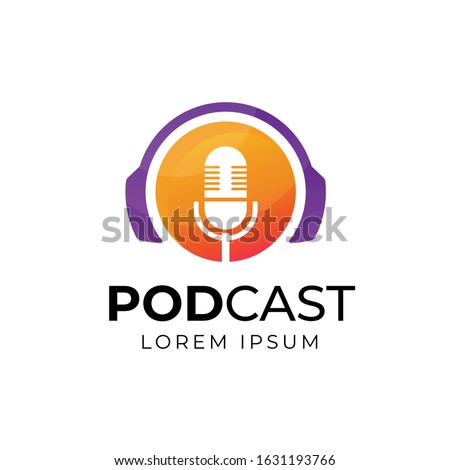 podcast or radio logo design