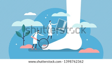 podiatrist vector illustration
