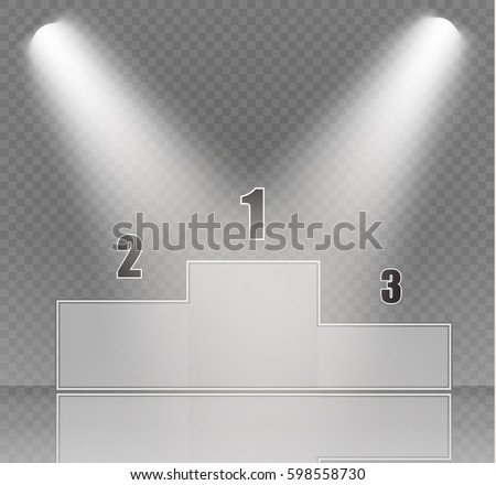 podium on a transparent