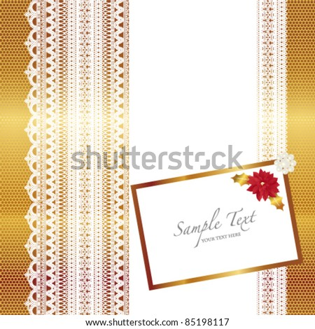 poinsettia and lace card
