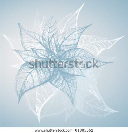 Poinsettia / Christmas flower like snowflake