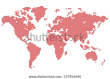 point detailed world map made