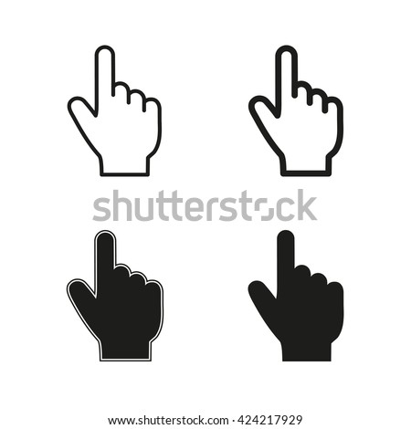 Point   icon  on white background. Vector illustration.