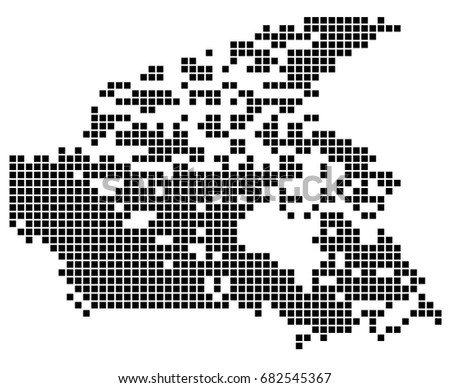 point map of canada vector