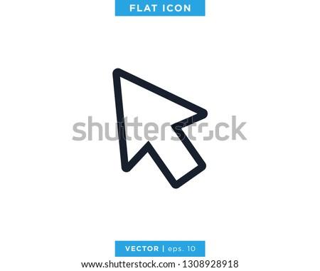 Pointer Arrow Icon Vector Design Template. Click Sign