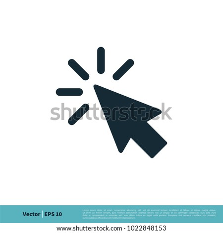 Pointer Arrow Icon Vector Logo Template