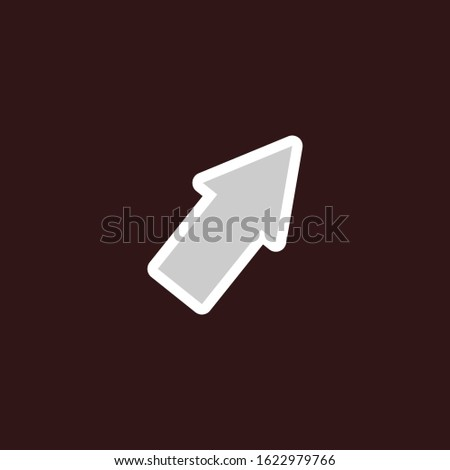 Pointer arrow in vector format. Pointer arrow for the cursor. Illustration of a pointer to show an object. Pointer arrow in the form of an arrow.