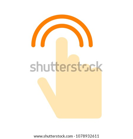 pointer finger icon   vector...