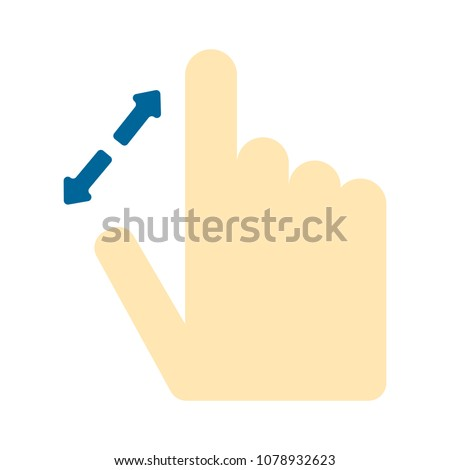 pointer finger icon - vector cursor symbol, touch symbol - mouse sign
