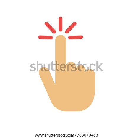 pointer finger icon - vector hand cursor