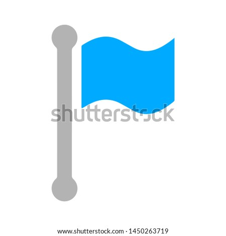 pointer flag icon. Logo element illustration. pointer flag symbol design. colored collection. pointer flag concept. Can be used in web and mobile
