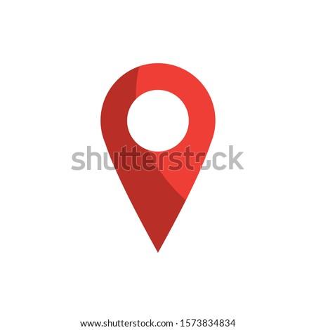 pointer gps map and navigation vector illustration
