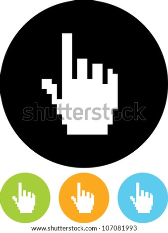 Pointer hand - Vector icon isolated