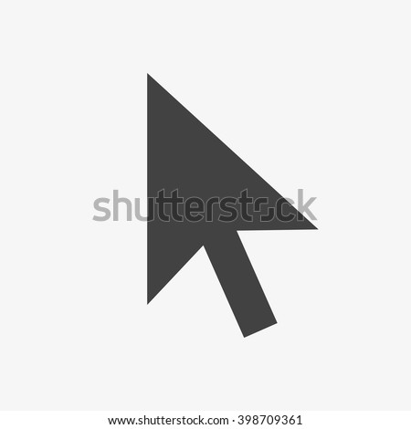 Pointer Icon in trendy flat style isolated on grey background. Cursor arrow symbol for your web site design, logo, app, UI. Vector illustration, EPS10.