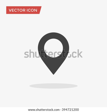 Pointer Icon in trendy flat style isolated on grey background. Pin symbol for your web site design, logo, app, UI. Vector illustration, EPS10.