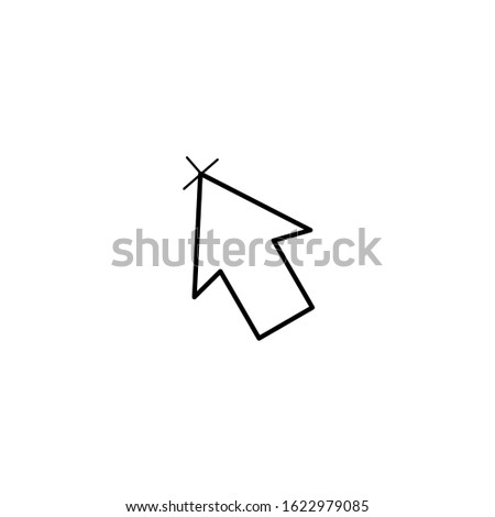 Pointer icon in vector format. Pointer icon for the cursor. Illustration of a pointer to show an object. Pointer icon in the form of an arrow.