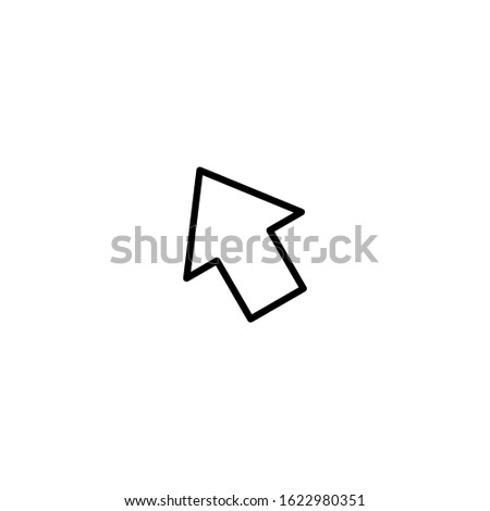 Pointer in vector format. Pointer vector for the cursor. Illustration of a pointer vector to show an object. Pointer vector in the form of an arrow.