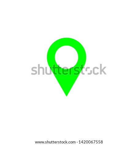pointer, map pointer, location, location pointer in four colors