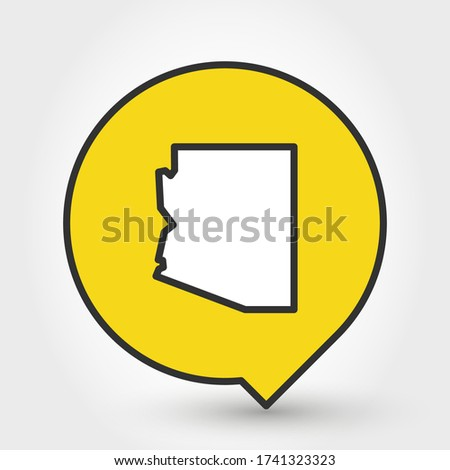 pointer with map of Arizona