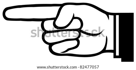 pointing hand (point finger) - stock vector