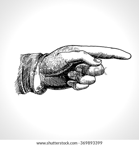 pointing hand. vector of...